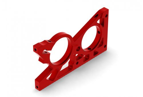 ARRMA Red Aluminium Mid Rear Bulkhead Set
