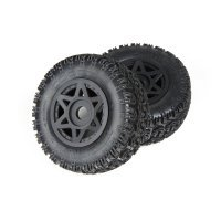 "ARRMA 2.2/3.0"" SENTON 6S dBoots SIDEWINDER SC Tyres on Black Rims - Glued Wheels 2Pcs"