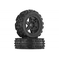 "ARRMA 2.0/2.2"" RAIDER Front dBoots SAND SCORPION DB Tyres on Black Rims - Glued Wheels 2Pcs"