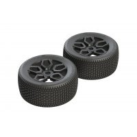 "ARRMA 3.8"" Exabyte NT dBoots Tyres on Black Rims - Glued Wheels 2Pcs"