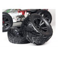 "ARRMA 3.8"" KRATON DBoots Minokawa MT Tyres on Black Rims - Glued Wheels 2Pcs"