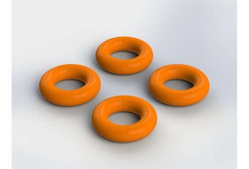 ARRMA 3.4x2mm Rubber O-Rings 4Pcs