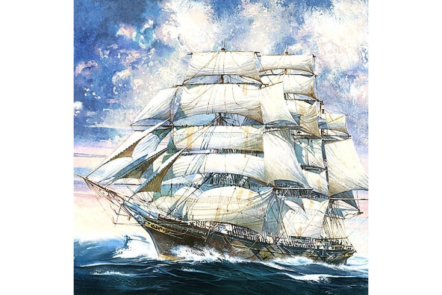 Academy 1/350 Cutty Sark Clipper Ship Scaled Plastic Model Kit