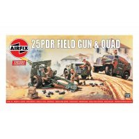 Airfix 1/76 25-PDR Field Gun Scale Scaled Plastic Model Kit