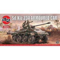 Airfix 1/76 Sdkfz.234 Armoured Car Scaled Plastic Model Kit