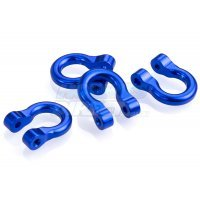 All Racing Blue Aluminium TRX-4 D-Rings 4Pcs