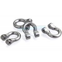All Racing Gunmetal Aluminium TRX-4 D-Rings 4Pcs