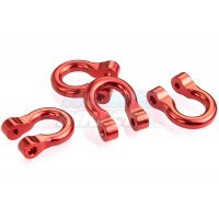 All Racing Red Aluminium TRX-4 D-Rings 4Pcs
