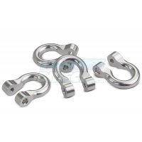 All Racing Silver Aluminium TRX-4 D-Rings 4Pcs
