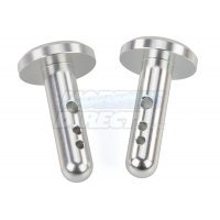 Area RC Silver Aluminium Baja Wing Mounting Posts 2Pcs