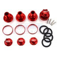 Area RC Red Aluminium DBXL 24mm Wheel Hex Extension Adapters 4Pcs