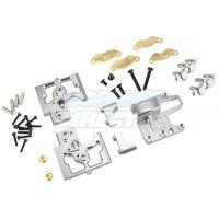 Area RC Silver Aluminium DBXL Centre Differential Mount/Brake Assembly Set