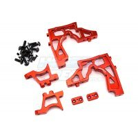 Area RC Red Aluminium DBXL Front Differential Mounts