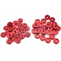 Area RC Red Aluminium 5IVE-T Body Washers 52Pcs