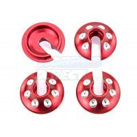 Area RC Red Aluminium 5IVE-T Spring Retainer 4Pcs