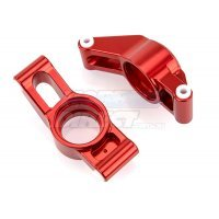 Area RC Red Aluminium X-Maxx Rear Hub Carrier Set