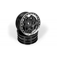 "Axial 1.9"" Walker Evans Black Rims 2Pcs"