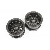 "Axial 2.2"" Method Beadlock IFD Black Rims 2Pcs"