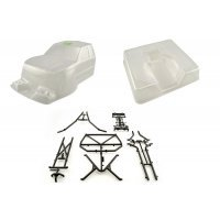 Axial Honcho Clear Unpainted Body Shell w/ Molded Rear Cage & Decal Sheet