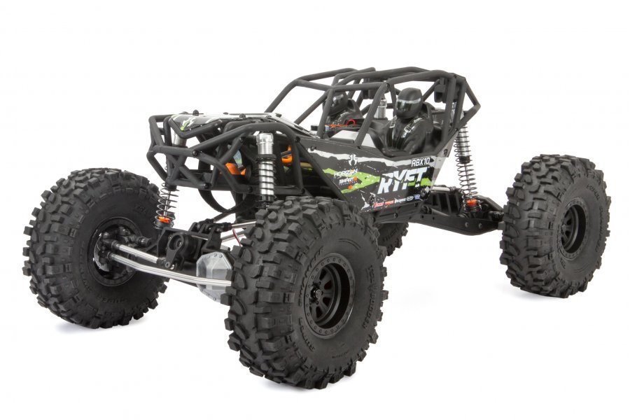 Axial 1/10 RBX10 Ryft 4WD Electric Brushless Off-Road RTR RC Rock Racer - Black