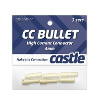 Castle Creations 4mm Bullet Connectors 3 Pairs
