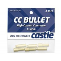 Castle Creations 6.5mm Bullet Connectors 3 Pairs