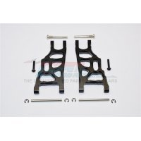 GPM Black Aluminium Stampede 2WD Front Lower Suspension Arms 2Pcs w/ Pins