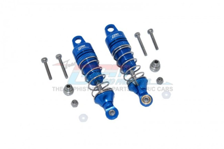 GPM Blue Aluminium Losi Mini T & Mini B 2.0 50mm Front Shocks 2Pcs w/ Hardware