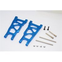 GPM Blue Aluminium Traxxas Rustler VXL Rear Lower Suspension Arms 2Pcs w/ Pins