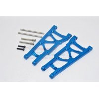 GPM Blue Aluminium Traxxas Slash 4x4 Front or Rear Lower Suspension Arms w/ Pins