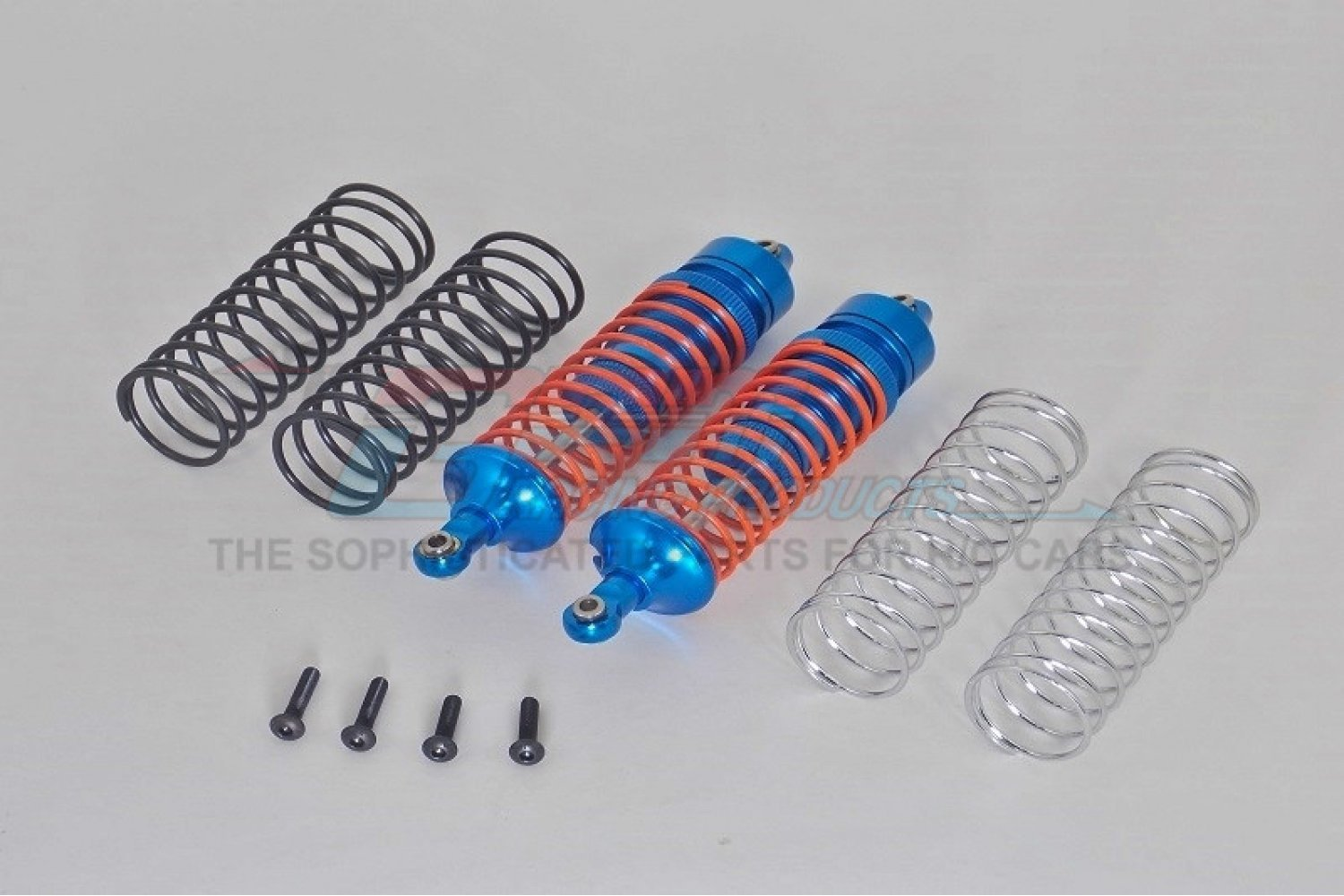 SLA102R-B-OR | GPM Blue Aluminium Traxxas Slash 4x4 Rear Shocks 2Pcs