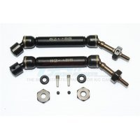GPM Steel & Black Aluminium Traxxas Slash/Stampede 4x4 Rear Universal Drive Shafts 2Pcs w/ 12mm Hexs