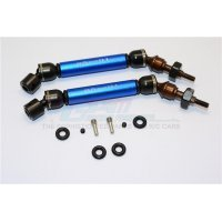 GPM Blue Steel Traxxas Slash/Stampede 4x4 Front Universal Drive Shafts 2Pcs w/ 12mm Hexs
