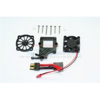 GPM Black Aluminium TRX-4 ESC Cooling Fan w/ Easy On & Off Switch