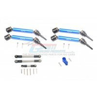GPM Blue Harden Steel Maxx 4S Complete Set of Front & Rear Universal Drive Shafts 4Pcs w/ Linkages & Aluminium Servo Horn