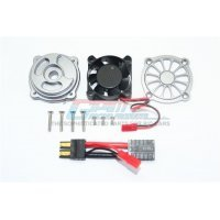 GPM UDR Gun Metal Aluminium Motor 40x40mm Cooling Fan