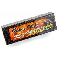 Gens Ace 7.4v 5800mAh 45C Hard Case ROAR Approved LiPo Battery