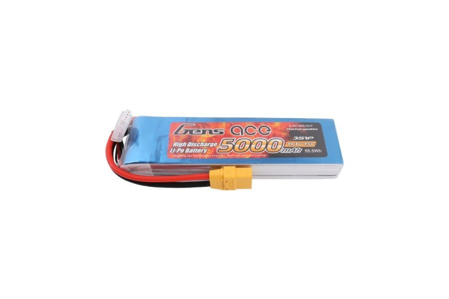 Gens Ace 11.1V 5000mAh 45C LiPo Battery
