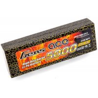Gens Ace 7.4v 5000mAh 50C Hard Case ROAR Approved LiPo Battery