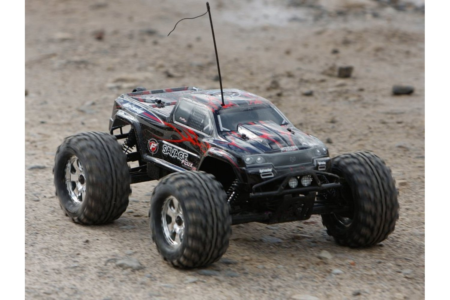 102219   HPI 1/8 Savage Flux HP Black Painted Body Shell