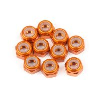 HPI 3mm Orange Aluminium Nyloc Nuts 10Pcs
