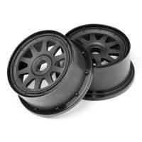 "HPI 4.7/5.5"" Baja 5T/5SC Rear TR-10 Black Rims 2Pcs"