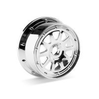 "HPI 4.7/5.5"" Baja 5T/5SC Front TR-10 Chrome Rims 2Pcs"