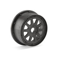 "HPI 4.7/5.5"" Baja 5T/5SC Rear TR-10 Gun Metal Rims 2Pcs"