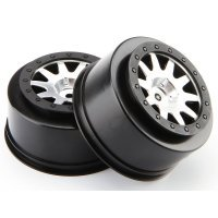 "HPI 2.2/3.0"" Blitz Mk.10 V2 Matte Chrome/Black Rims 2Pcs"
