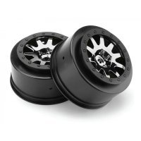 "HPI 2.2/3.0"" Blitz Mk.10 V2 Chrome/Black Rims 2Pcs"