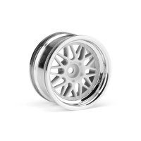 "HPI 1.9"" (6mm Off-Set) HRE C90 Chrome/White Rims 2Pcs"