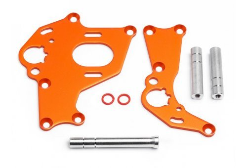 HPI Sprint 2 Orange Left & Right Motor Mount Set