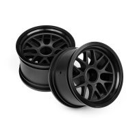 "HPI 1.9"" (14mm Off-Set) BBS Black Rims 2Pcs"
