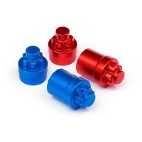 HPI 4mm Red & Blue Aluminium Serrated Wheel Nut Set 4Pcs